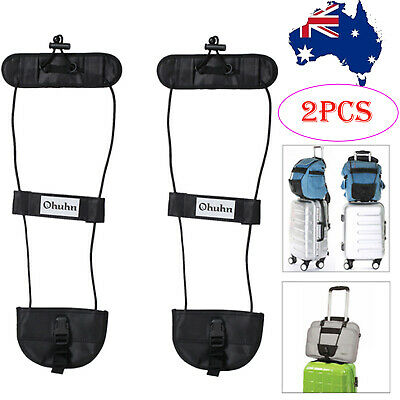 2X Adjustable Tape Belt Carry On Bag Strap Luggage Bungee Travel Suitcase Strap