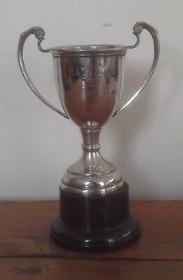 silver plate medium trophy, trophy, trophies, silver, sporting trophy, Hatfield