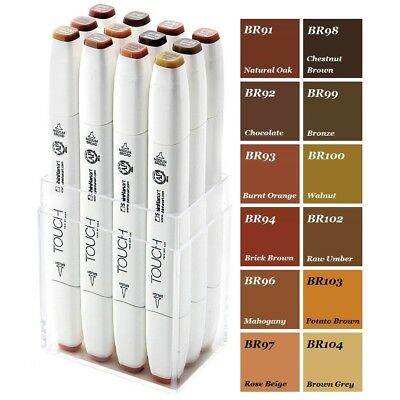 ShinHan Touch Brush Marker Wood Color