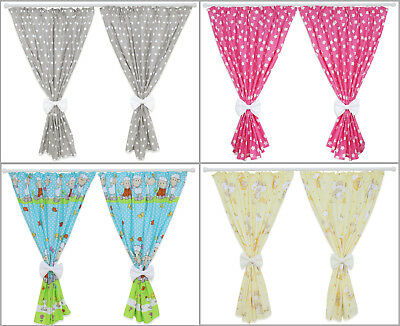 Nursery Curtains Baby Child Kids Bedroom Window Decoration With Bows