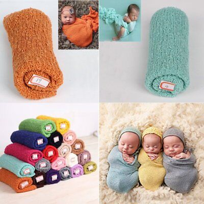 40*150cm Stretch Knit Wrap Newborn Photography Prop Baby Kid Nubble Rayon Wraps