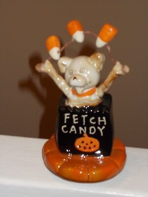 New Yankee Candle 2016 Boney Bunch Fetch Candy Dog Jar Topper Free Ship