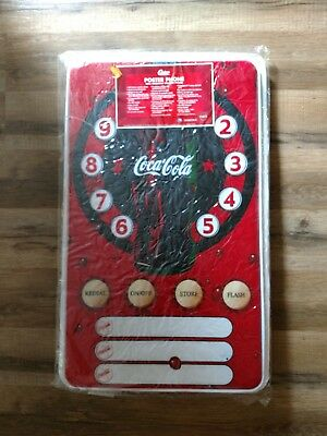 "RARE Coca-Cola Poster Wall Mounted Touch Telephone 20""x11.5"" TESTED WORKS"