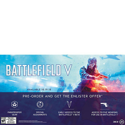 PS4/Xbox One - Battlefield 5 V Enlister Offer Beta Access & BF1 Weapons Pack DLC