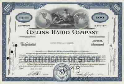 COLLINS Radio 1966 Cedar Rapids Iowa Rockwell Westinghouse Air Brake 100 Blue