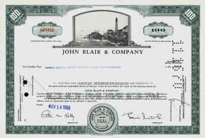 John Blair Company 1969 Warren Pennsylvania Delaware Merrill Lynch 100 Shares