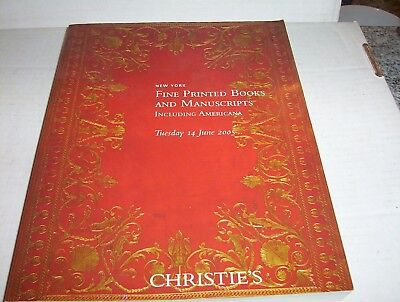 Auction Catalog- Christie's Printed Books & Manuscripts: Tuesday 14 June 2005