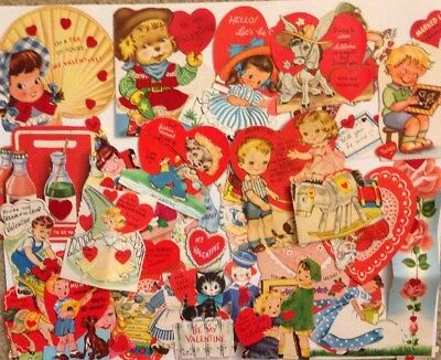 Lot Of 27 Use Vintage 1950s Valentines