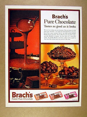 1961 Brach's Pure Chocolate Peanuts Stars Bridge Mix photo vintage print Ad