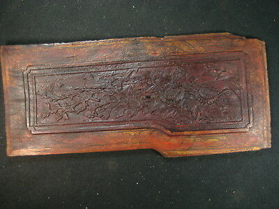 Chinese Antique Hand Carved   Wooden Carving Plum Blossom