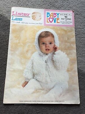 a680dd401 VINTAGE LISTER LEE Baby Love knitting pattern booklet - 10 baby ...