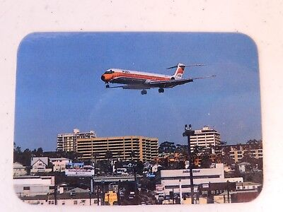 PSA Airlines DC-9, MD-80 Landing San Diego ? Vintage Photograph 3 Inch Fast Ship
