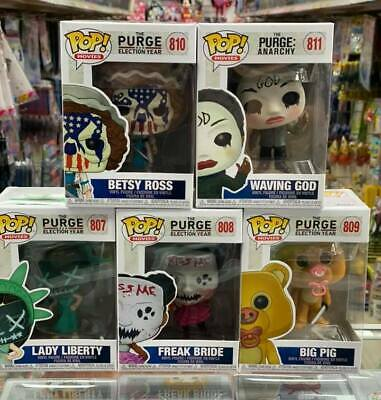 Funko Pop! Movies THE PURGE Set of 5 Vinyl Figure with .5mm pop protector