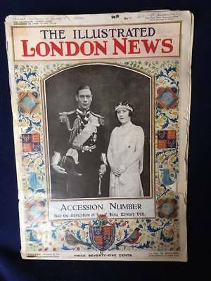 Vintage 1936 Illustrated London News Accession--King George VI After Abdication