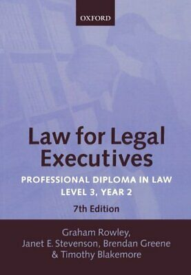 Law for Legal Executives: Professional Diploma in... by Rowley, Graham Paperback