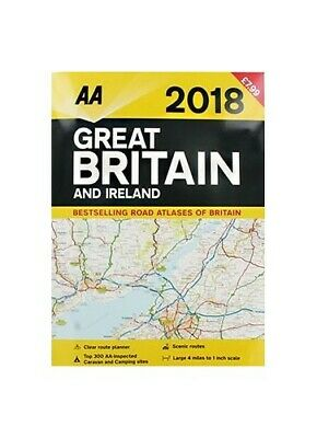 AA 2018 Great Britain and Ireland Road Atlas by Aa Publishing Book The Cheap