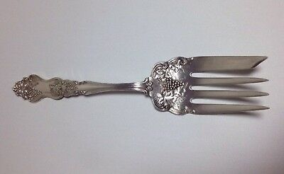 MOSELLE ~ American Silver Co. ~ Grape Serving Fork ~ c1908 ~ Excellent!