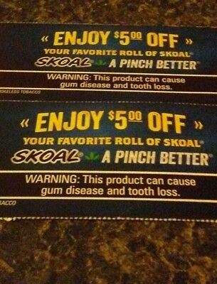 photo about Skoal Coupons Printable identified as SKOAL SMOKELESS TOBACCO Coupon codes *******significant $Aving