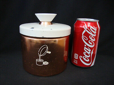 Vintage Mirro Grease Canister 3 Piece Copper Aluminum Canister