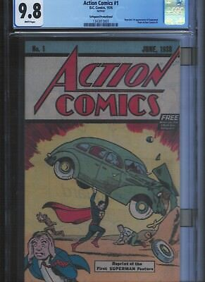 Action Comics # 1 **Reprint**CGC 9.8  White Pages. UnRestored.