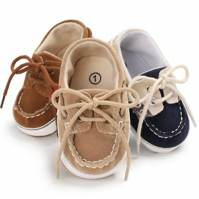 Newborn Baby Cotton Cloth Crib Shoes Infant Boy Girl Soft Sole Lacing Sneakers