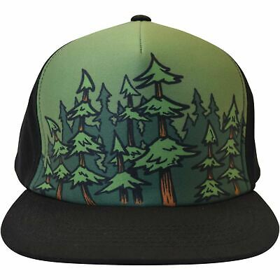 c6a246942f3 Flat Bill Lumberjack Custom Flex Humboldt Clothing Co Hat Stretch Trees  Forest