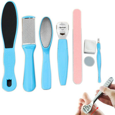 8pcs Manicure Foot Rasp File Hard Dead Skin Remover Pedicure Peeling Tools Kit