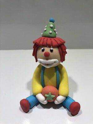 3D Circus Clown Edible Cake Topper Fondant, Gum paste, Icing, Cake Decoration.