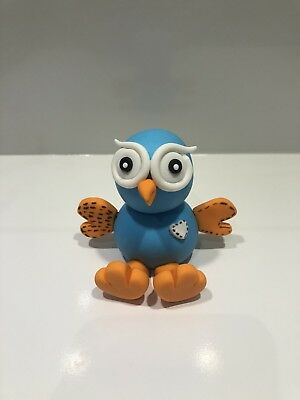 3D Giggle Owl Edible Cake Toppers Fondant, Gum Paste, Decoration, Birthday Cake