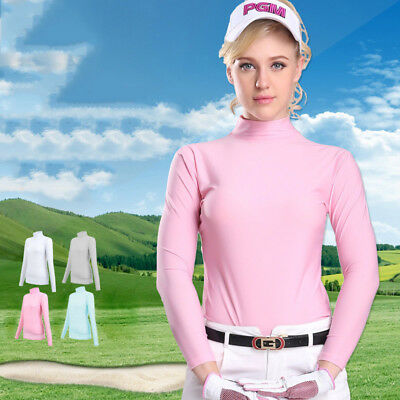 PGM Women Lady Golf Clubs Viscose Shirt Underwear Sunscreen UV Ice T-shirt HYH