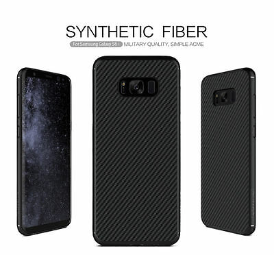 NILLKIN Carbon Unique Synthetic Fiber Cover For Samsung Galaxy S7 S8 S9 Plus