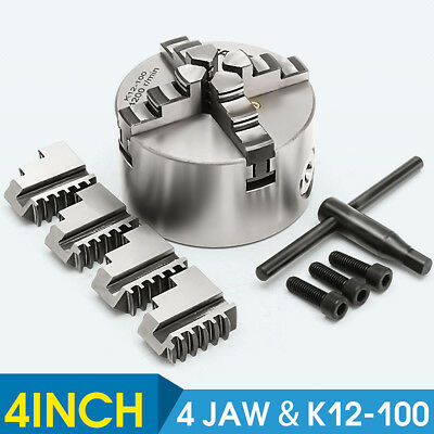 100mm 4 Jaw Self Centering Independent Lathe Chuck CNC Milling Engineering Tool