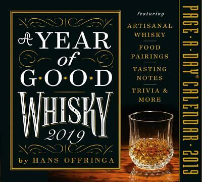 2019 a Year of Good Whisky Page-a-day Calendar by Hans Offringa Free Shipping!