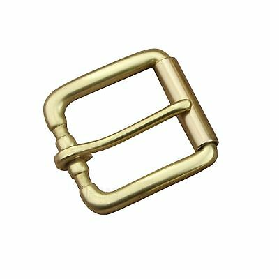 "1 1/2"" 38mm DIY Heavy Duty Roller Buckle Solid Brass Pin Buckle for Leather Belt"
