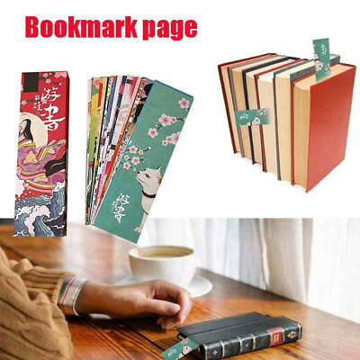 30pcs/lot Vintage Japanese Style Book Marks Cute Paper Bookmark For Kid Supplies