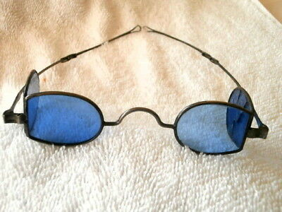 """VERY RARE 1850's MODIFIED SHAPE """"DOUBLE D""""  SILVER SPECTACLES IN A DATED CASE!"""