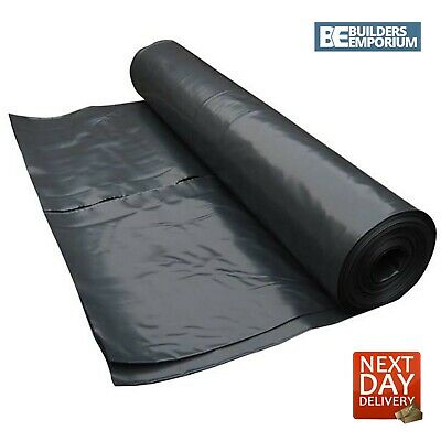 DPM Damp Proof Membrane 300MU 4m Wide Polythene Sheet 1200 Gauge ALL SIZES