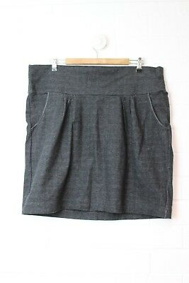 PUMPKIN PATCH Maternity Black Flecked Stretch Skirt Size L (Size 14-16) NEW Tags