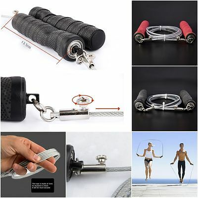 Gym Training Jump Rope Adjustable Steel Wire Speed Skipping Crossfit Exercise