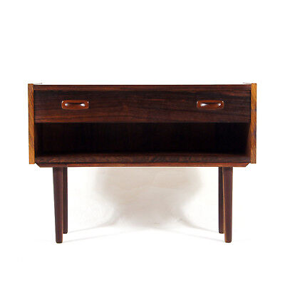 Retro Vintage Danish Modern Design Rosewood Low Small Chest of Drawers 60s 70s