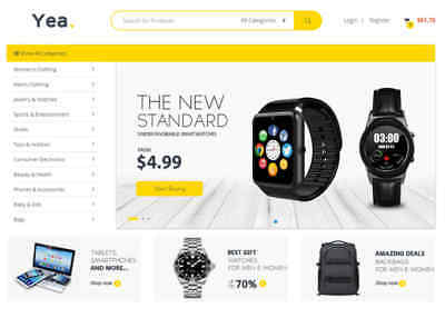 FULL ready AUTOMATED drop shipping website with more than +50,000 products