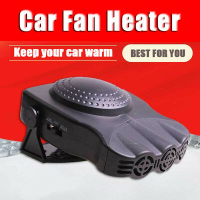 12V 150W Portable Car Ceramic Heater Cooler Dryer Fan Defroster Demister Deicer