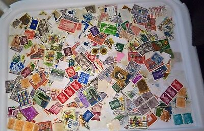 230g stamps Kiloware worldwide all off paper pre 1982 post free about 60-70% GB