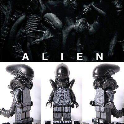 3PCS Aliens Xenomorph LEGO Inspired Mini Figure Horror Movie Fits Building Toys