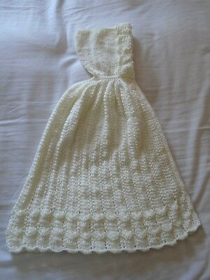 Absolutely stunning new hand knitted baby cape 0-3 months