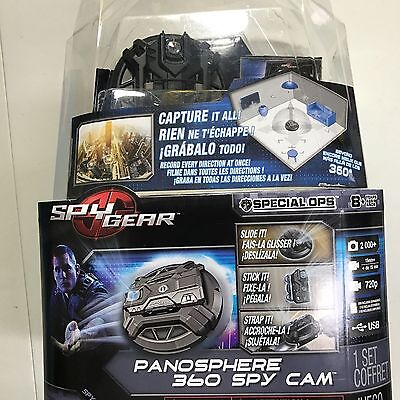 NEW Spy Gear Panosphere 360 Cam Tilting Lens Camera Photo/Video+ 2GB Micro SD