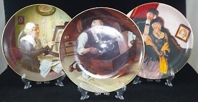 Ist Three Issues of Knowles Norman Rockwell Collector Plates Series ~ Bradex