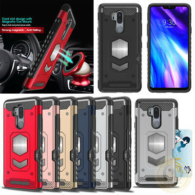 For LG G7 ThinQ / G6 / V30 / Q6 Case Hybrid Rugged Armor Cover With Card Pocket