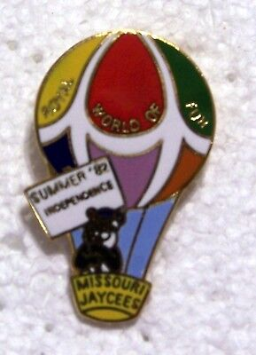 1982 Royal World Of Fun Summer Independence Missouri Jaycees Balloon Pin