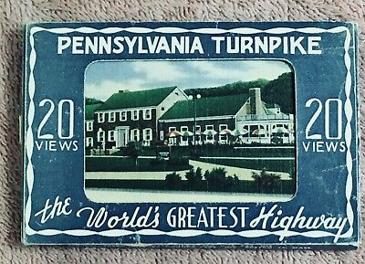 [1940s?] set of 20 color prints of the Pennsylvania Turnpike, original boxed set
